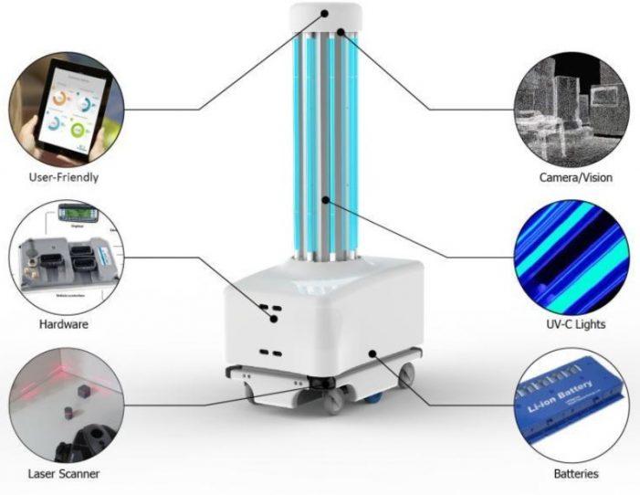 Hastahane dezenfekte edici robot